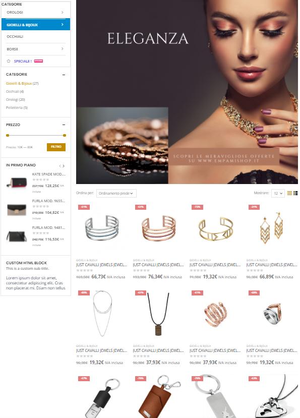 creazione E-commerce bijouterie creo sito internet web Verona